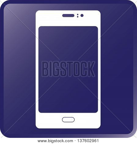 Vector Smartphone Concept Icon White on Violet
