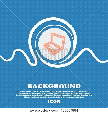 Laptop Sign Icon. Blue And White Abstract Background Flecked With Space For Text And Your Design. Ve