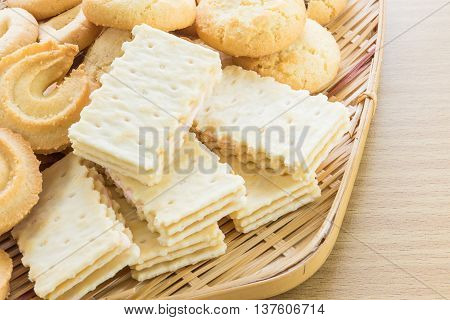 Cookies In Bamboo Bowl