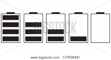 Set of black battery icons computer icon symbol battery