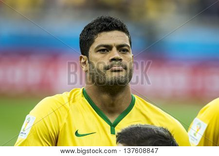 Belo Horizonte Brazil - july 08 2014: HULK of Brazil during the FIFA 2014 World Cup. Brazil is facing Germany in the semi-finals at Mineirao Stadium