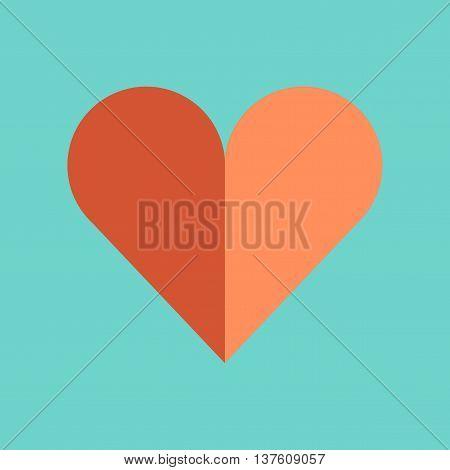 flat icon on stylish background poker Hearts suit