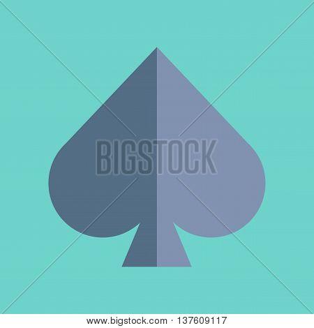 flat icon on stylish background poker game spades