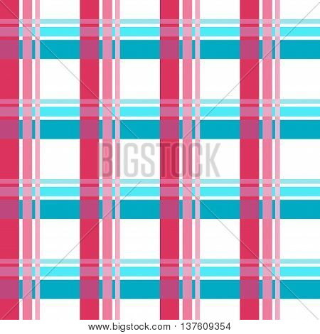 Vector Of Colored Checkered Seamless Table Cloth