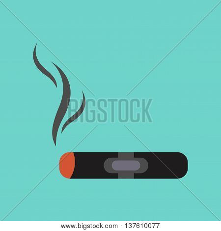 flat icon on stylish background cuba cigar