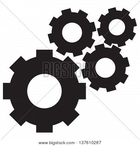 Gear Icon Vector Illustration gear computer icon symbol equipment