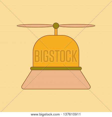 flat icon on stylish background Kids toy helicopter