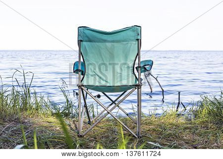 Camping Place With Armchairs Near The Sea