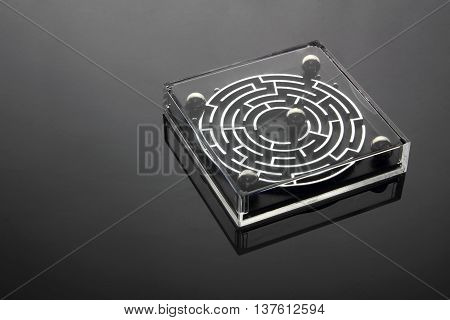 Maze Game Set  on a Black Background