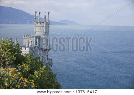 Swallow's Nest Castle in Crimea. Black sea