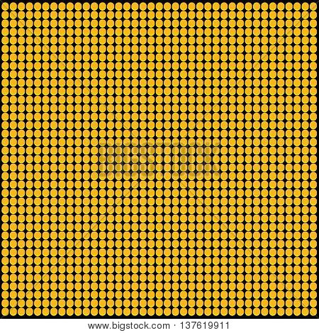 Yellow LED Panel Vector Pattern Black Background