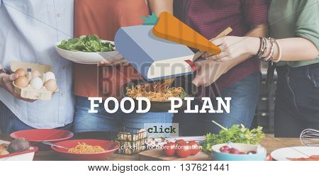 Food Plan Ingredients Menu Preparing Concept