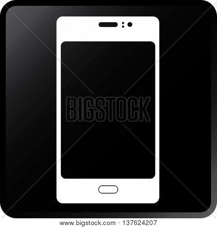 Vector Smartphone Concept Icon White on Black