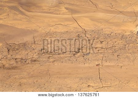 Muddy Soil Background. Martian Terrain Aerial View.