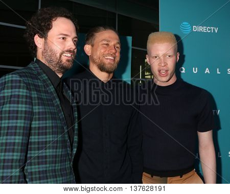 LOS ANGELES - JUL 7:  Drake Doremus, Charlie Hunnam, Shaun Ross at the Equals LA Premiere at the ArcLight Hollywood on July 7, 2016 in Los Angeles, CA