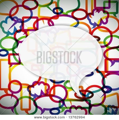 Colorful background made from speech bubbles with place for your text