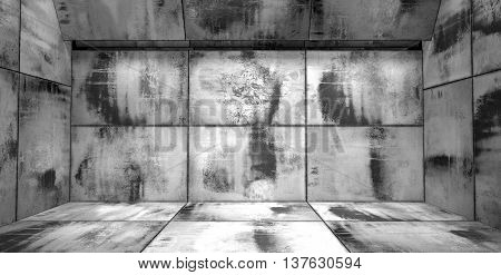 Grungy Black And White Room