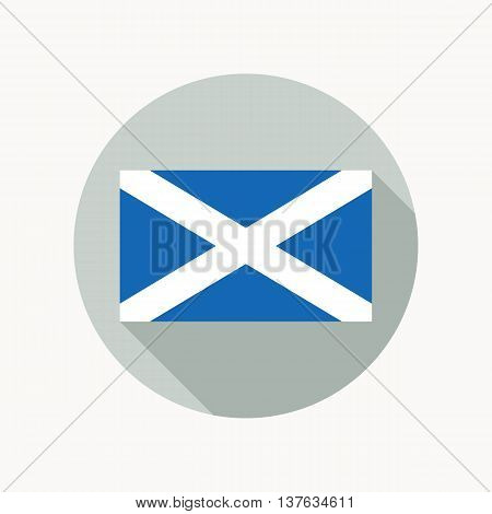 Scotland national flag. Scottish flag icon. Vector illustration in EPS8 format.