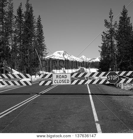 The Cascade Lakes Highway in Oregon remains closed for a few more days in late spring.