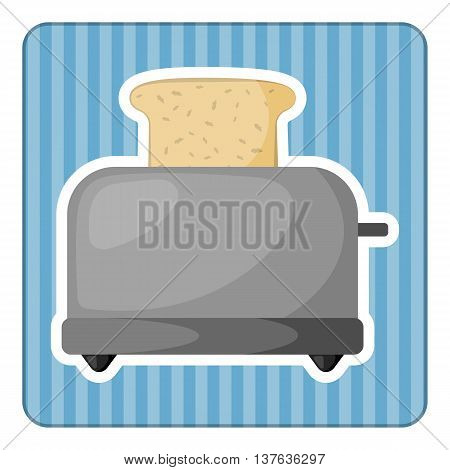 Bread toaster colorful icon. Vector illustration in cartoon style