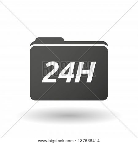 Isolated Folder Icon With    The Text 24H