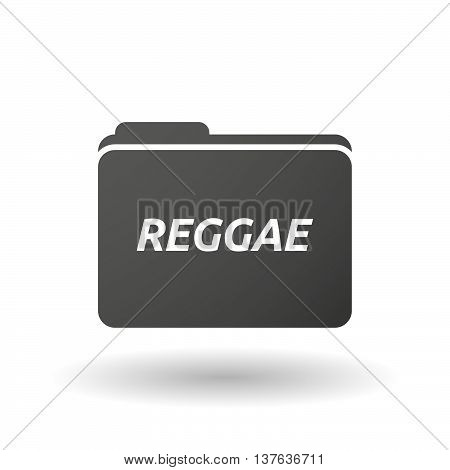 Isolated Folder Icon With    The Text Reggae