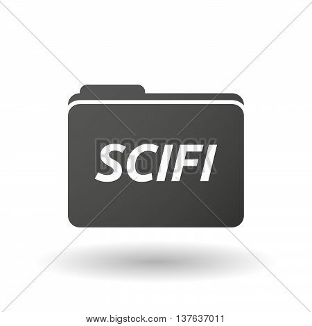 Isolated Folder Icon With    The Text Scifi