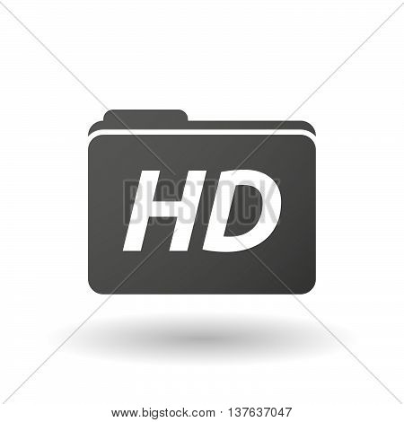 Isolated Folder Icon With    The Text Hd