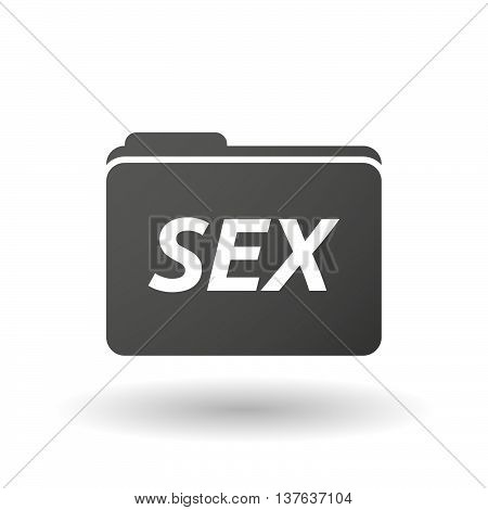 Isolated Folder Icon With    The Text Sex
