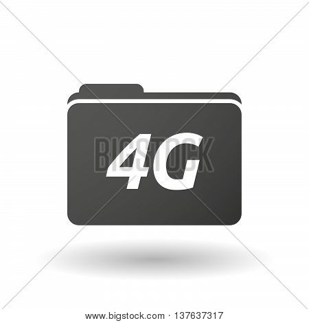 Isolated Folder Icon With    The Text 4G
