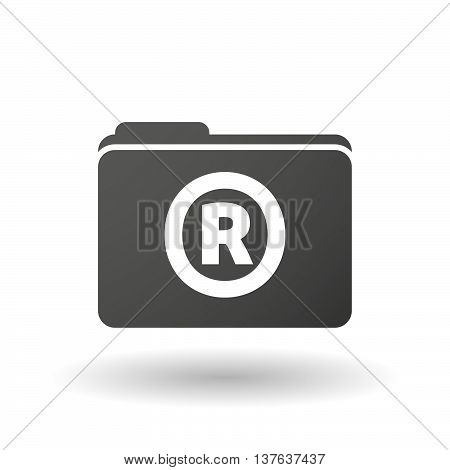 Isolated Folder Icon With    The Registered Trademark Symbol