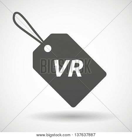 Isolated  Product Label Icon With    The Virtual Reality Acronym Vr