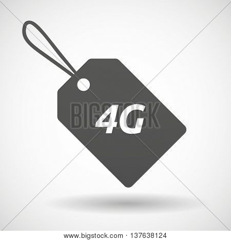 Isolated  Product Label Icon With    The Text 4G