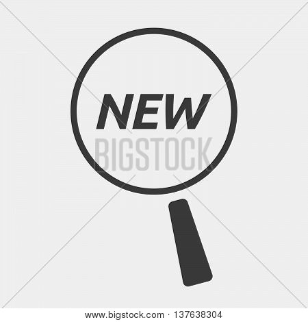 Isolated Magnifying Glass Icon Focusing    The Text New