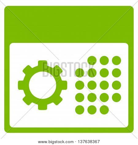 Service Syllabus vector icon. Style is flat symbol, eco green color, rounded angles, white background.