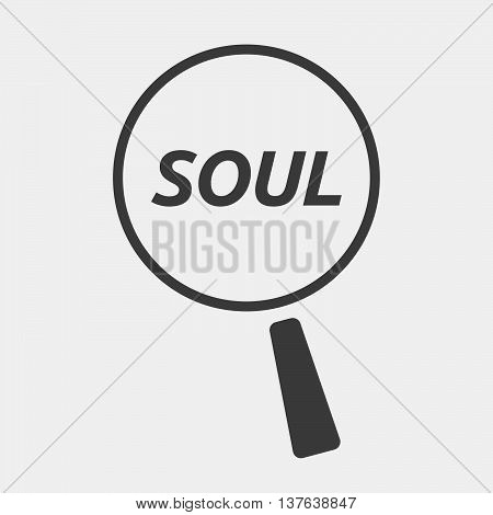 Isolated Magnifying Glass Icon Focusing    The Text Soul