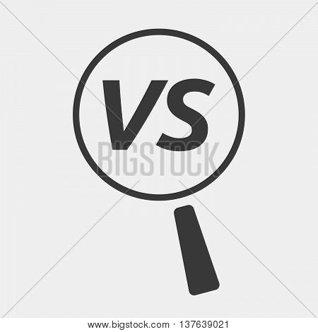 Isolated Magnifying Glass Icon Focusing    The Text Vs