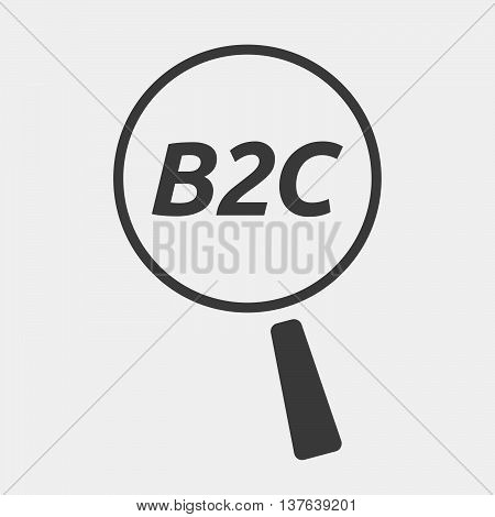 Isolated Magnifying Glass Icon Focusing    The Text B2C
