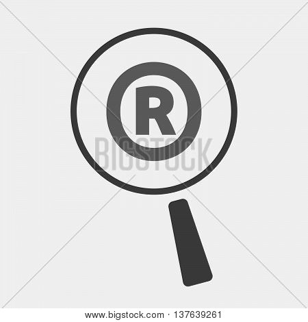 Isolated Magnifying Glass Icon Focusing    The Registered Trademark Symbol