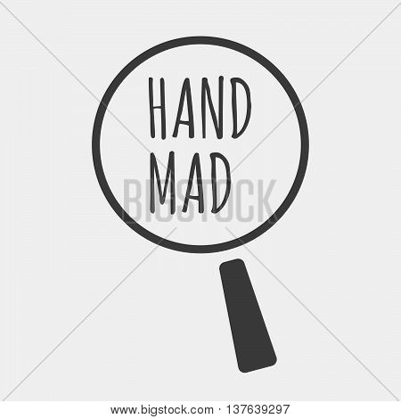 Isolated Magnifying Glass Icon Focusing    The Text Hip Hop
