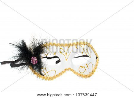 Masquerade mask costume  on a white background