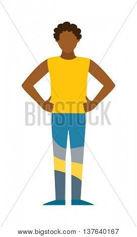 Healthy built strong sport man silhouette