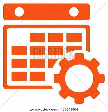 Organizer Adjustment vector icon. Style is flat symbol, orange color, rounded angles, white background.