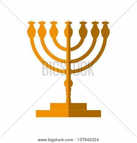 Israel culture concept represented by candle icon. Isolated and flat illustration