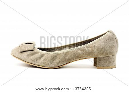 Nice woman shoe isolated on a white