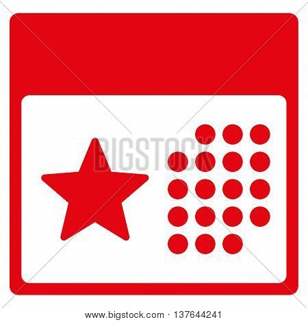 Holiday Organizer vector icon. Style is flat symbol, red color, rounded angles, white background.