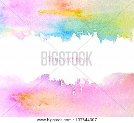 Beautiful abstract watercolor background with place for your text