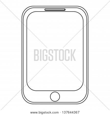 smartphone, smart phone communication icon isolated vector illustration