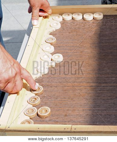 Move on the board in the game of backgammon