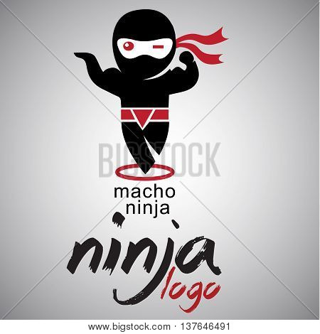 macho ninja logo concepts designed in a simple way so it can be use for multiple proposes like logo ,marks ,symbols or icons.